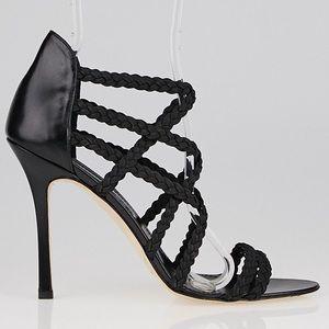 Manolo Blahnik Strappy Elastic Sandal Heels